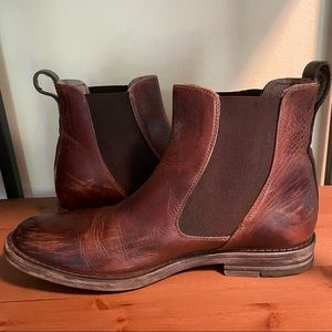 Bed Stu Men's Brown Leather Slip-On Boots, Sz 10